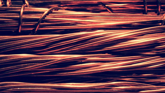 a bundle of copper wire in high definition